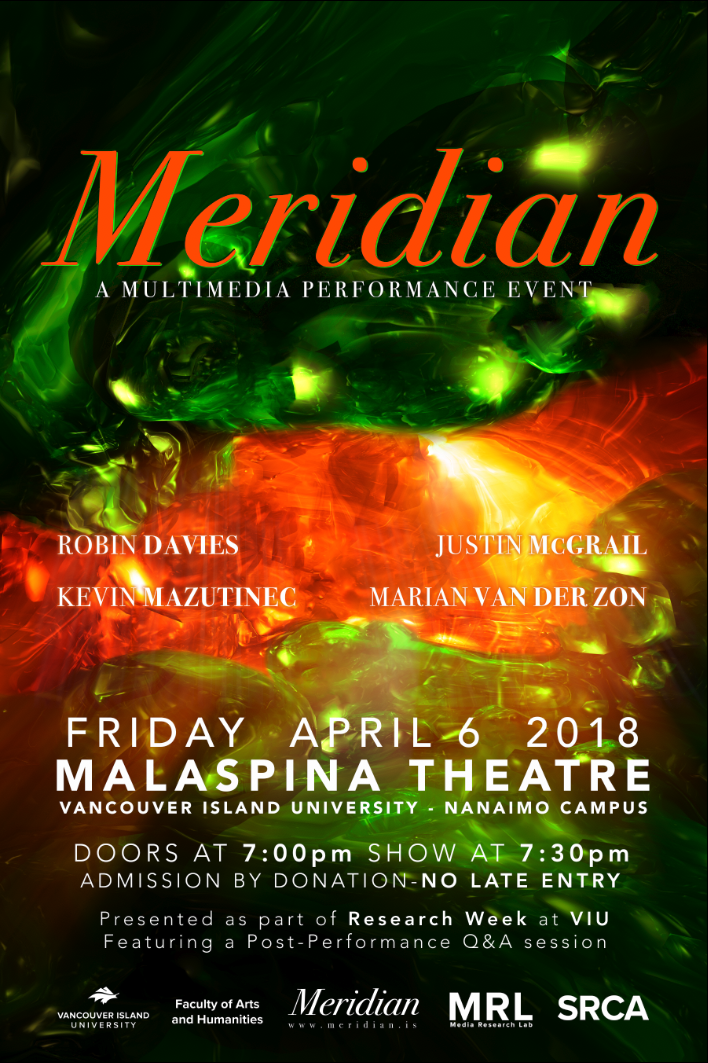 Show at VIU Theatre, April 6th, 7:30pm